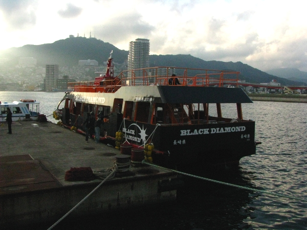 世界遺産候補 軍艦島へ向かうブラックダイヤモンド号