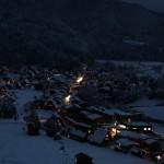 世界遺産「白川郷・五箇山の合掌造り集落」の夜景